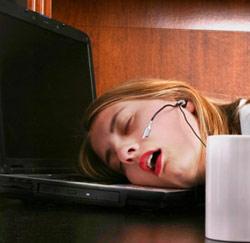 Nachtplassers zijn minder productief overdag - Decoreer zijn kantoor op het werk ...